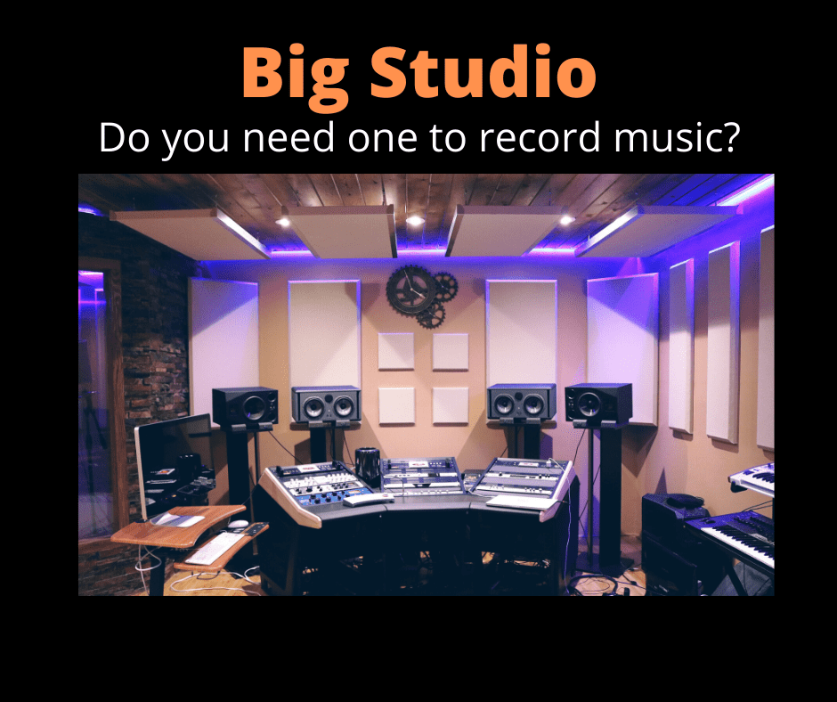 How big does a recording studio need to be?