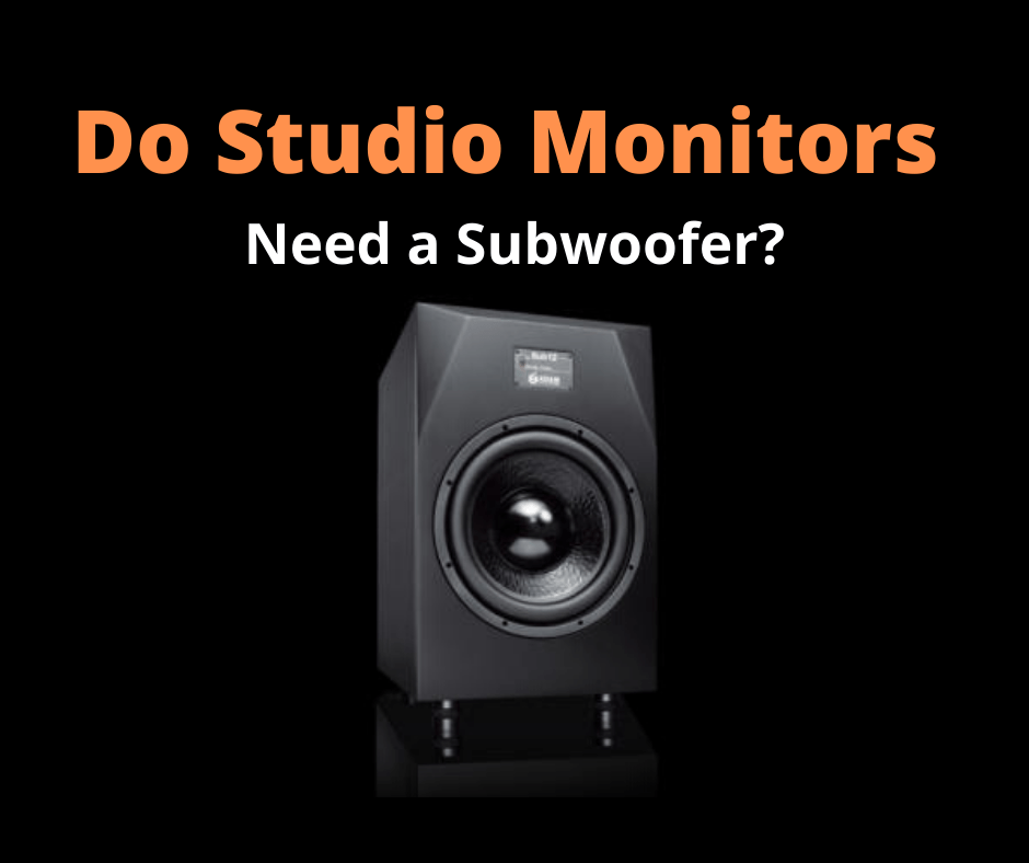 Recording studio subwoofers